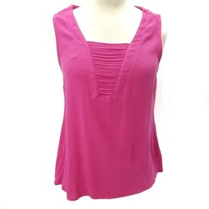 Stitch Fix Skies Are Blur Hot Pink Tank Top Small